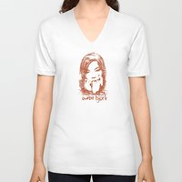 bjork V-neck T-shirts featuring Auntie Bjork by The Babybirds