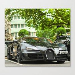 Bugatti Veyron SS Sang Noir Canvas Print