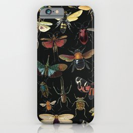 Lovely Butterfly Black iPhone Case
