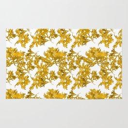 Ocre Seaweed Pattern Rug