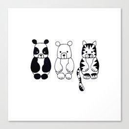 Little Animals Canvas Print