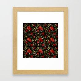 Khokhloma print Framed Art Print