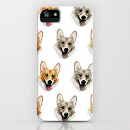 Realistic Happy Corgis iPhone Case