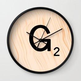 Scrabble Letter G - Scrabble Art and Apparel Wall Clock