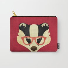 Hipster Badger: Red Carry-All Pouch