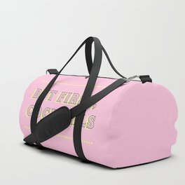 Pastel Pink Party Cocktails Duffle Bag