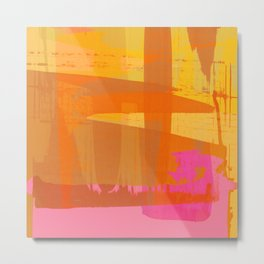 abstract fucsia Metal Print