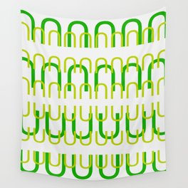 mod green clip Wall Tapestry