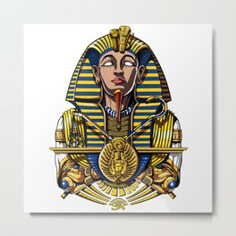 Egyptian Pharaoh Tutankhamun King Tut Metal Print