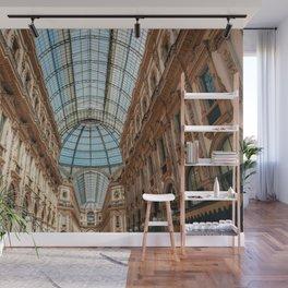 Galleria Vittorio Emanuele, Milan Dome, Gallery Milan, Shopping Mall Milan, Milano Italy, Famous Landmark Italy Print Wall Mural