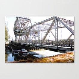 Crossing Under the Bridge Canvas Print