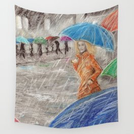 Rainy Days in Normandy Wall Tapestry