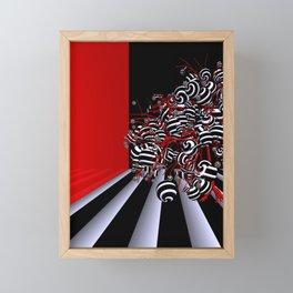 fancy tree in OpArt - design Framed Mini Art Print