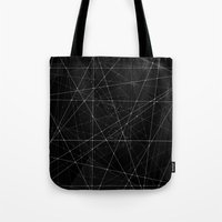 constellations Tote Bags featuring Constellations by Dood_L