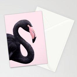 BLACK FLAMINGO Stationery Cards