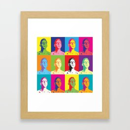 Coriolanus pop-art Framed Art Print
