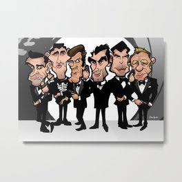 Faces of Bond Metal Print