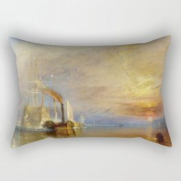 The Fighting Temeraire by J. M. W. Turner (1838) Rectangular Pillow