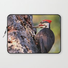 Pileated Woodpecker at Work Laptop Sleeve