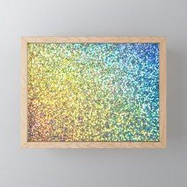 Glitter Rainbow Framed Mini Art Print
