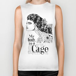 My body is a cage Biker Tank