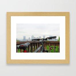 Bike the Burgh Framed Art Print