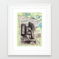 minnesota Framed Art Prints featuring Minnesota by Ursula Rodgers