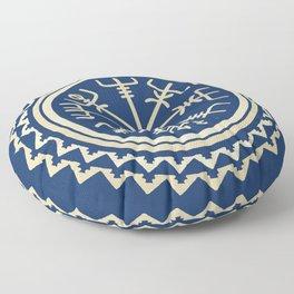 Viking Vegvisir Compass Floor Pillow