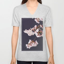 Cherry Blossoms (illustration) Unisex V-Neck