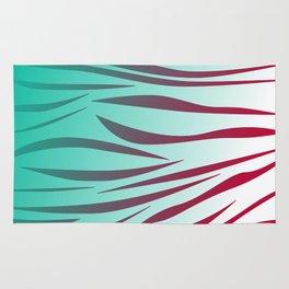 design lines blue with pink Rug