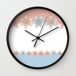 Flowers paper, cut paper Wall Clock