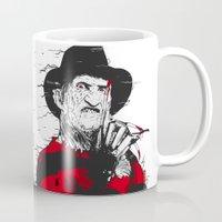 freddy krueger Mugs featuring Freddy by Akyanyme