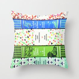 Pretty Book Stack - Part 1 Throw Pillow