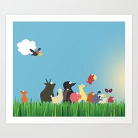 What's going on the farm? Kids collection Art Print