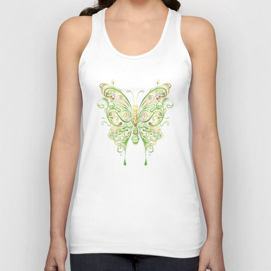 Butterfly Ornamental Unisex Tank Top