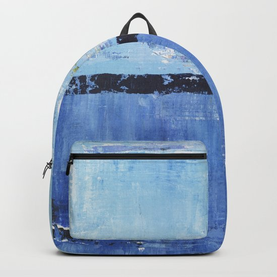 Shiver Abstract Art Blue Modern Water Painting  Backpack