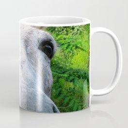 Watercolor Wild Donkey 01, St John, USVI, Hi! Coffee Mug