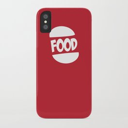 FOOD logo fun generic food logo iPhone Case