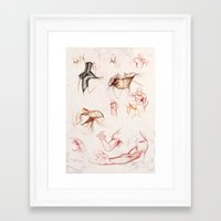anatomy Framed Art Prints featuring ANATOMY by Andreas Derebucha