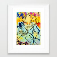 nurse Framed Art Prints featuring nurse by casper smith