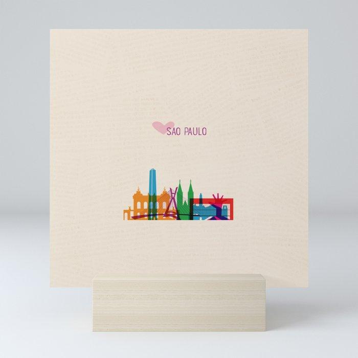 Love Sao Paulo Brazil Mini Art Print