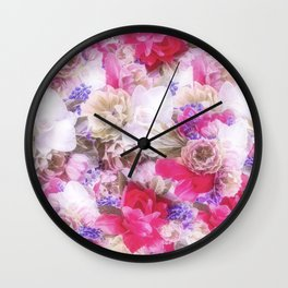 The flowers from my garden Wall Clock