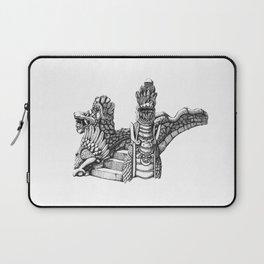 Ink Drawing | Bali Stone Bridge Laptop Sleeve