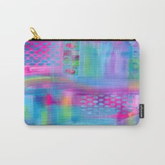 Pink with Blue Dots Carry-All Pouch