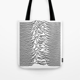 Joy Division - Unknown Pleasures (Black Lines) Tote Bag