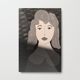 Woman in the Shadows Metal Print
