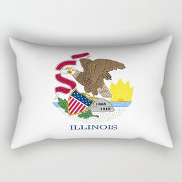 State flag of Illinois Rectangular Pillow