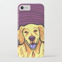 golden retriever iPhone & iPod Cases featuring Golden Retriever by Gianna Brucato
