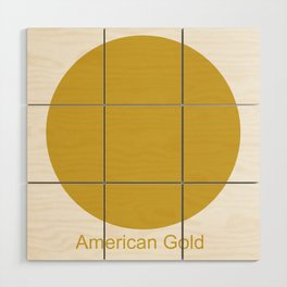 American Gold Wood Wall Art