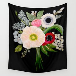 Spring Bouquet on Slate Wall Tapestry